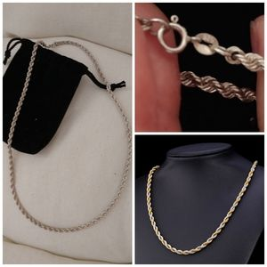 Sterling Silver Singapore Heavy 20 inch chain